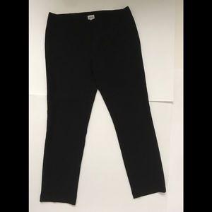 Armani Collezioni Flat Front  Black pants size 6